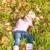 meisje · bladeren · foto · mooie - stockfoto © phbcz
