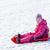 女の子 · そり · 少女 · 子 · 雪 · 帽子 - ストックフォト © phbcz