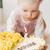 portret · meisje · verjaardagstaart · voedsel · kind - stockfoto © phbcz