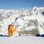 vrouw · winter · bergen · alpen · Frankrijk · sneeuw - stockfoto © phbcz