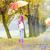 anya · lánygyermek · esernyők · őszi · sikátor · nő - stock fotó © phbcz