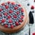 chocolate cake with raspberries and blueberries stock photo © phbcz
