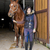 lovas · istálló · nő · fiatal · egyedül · fiatalság - stock fotó © phbcz