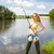 женщину · рыбалки · пруд · женщины · портрет · Постоянный - Сток-фото © phbcz