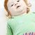portré · ül · kicsi · fiú · gyerekek · gyermek - stock fotó © phbcz