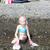 девочку · пляж · морем · готовый · Подводное · плавание · девушки - Сток-фото © phbcz