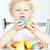 portre · küçük · kız · paskalya · yumurtası · Paskalya · çocuk · yumurta - stok fotoğraf © phbcz