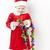 meisje · kerstman · christmas · keten · meisje · kinderen - stockfoto © phbcz