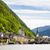 Ausztria · víz · épület · templom · utazás · hegyek - stock fotó © phbcz
