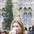 woman drinking hot wine at christmas market vienna austria stock photo © phbcz