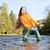 mulher · pescaria · rio · República · Checa · mulheres · outono - foto stock © phbcz
