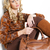 肖像 · 座って · 女性 · 着用 · ブラウン · 服 - ストックフォト © phbcz
