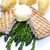 tuna steak with green asparagus and unpeeled potatoes stock photo © phbcz