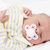 portrait of newborn baby girl stock photo © phbcz