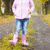 detail of little girl wearing rubber boots in autumnal alley stock photo © phbcz