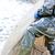 részlet · halász · férfiak · halászat · áll · tavacska - stock fotó © phbcz
