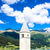 塔 · 教会 · 湖 · 南 · イタリア · 水 - ストックフォト © phbcz