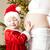 ritratto · bambina · incinta · madre · Natale · albero · di · natale - foto d'archivio © phbcz
