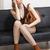 vrouw · modieus · bruin · schoenen · handtas - stockfoto © phbcz
