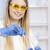 młoda · kobieta · eksperyment · laboratorium · kobiet · okulary · pracy - zdjęcia stock © phbcz
