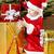 babbo · natale · ragazza · Natale · presenti · sorpreso · rosso - foto d'archivio © phbcz