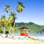 cabin on the beach maracas bay trinidad stock photo © phbcz