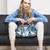 vrouw · zomerschoenen · vergadering · sofa · zwarte - stockfoto © phbcz