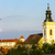 church of saint kunigunde and castle cejkovice czech republic stock photo © phbcz