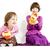 kettő · nővérek · kesztyű · lány · gyermek · játék - stock fotó © phbcz