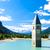 塔 · 教会 · 湖 · 南 · イタリア · 自然 - ストックフォト © phbcz