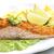 grelhado · salmão · filé · abacate · molho · nachos - foto stock © phbcz