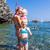 snorkeling · mediterrán · tenger · Franciaország · nő · nyár - stock fotó © phbcz