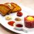 bife · ovo · gema · restaurante · pão · refeição - foto stock © phbcz