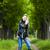 vrouw · zwarte · regenjas · geïsoleerd · Rood - stockfoto © phbcz