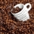 beker · koffie · vol · koffiebonen · witte · koffiekopje - stockfoto © phbcz