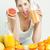 portre · genç · kadın · narenciye · portakal · suyu · gıda · kadın - stok fotoğraf © phbcz