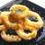 tintahal · gyűrűk · étel · étterem · paradicsom · ebéd - stock fotó © phbcz