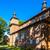 öreg · katolikus · templom · égbolt · épület · kő - stock fotó © phbcz