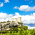 ruins of castle in vaison la romaine with vineyard provence fr stock photo © phbcz