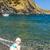 menina · enterrado · praia · criança · diversão - foto stock © phbcz