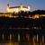 bratislava castle at night slovakia stock photo © phbcz