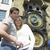 couple in prague horloge old town hall czech republic stock photo © phbcz