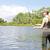 женщину · рыбалки · пруд · женщины · расслабиться · Hat - Сток-фото © phbcz