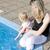 gyermek · megnyugtató · úszómedence · aranyos · védőszemüveg · mosoly - stock fotó © phbcz