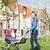 семьи · ходьбе · тротуар · ребенка · матери · джинсов - Сток-фото © phbcz