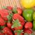 limões · morango · imagem · padrão · fruto · verde - foto stock © philipimage
