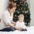 izgatott · fiatal · srác · karácsonyfa · fa · portré · fiú - stock fotó © photobac