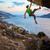 mężczyzna · rock · wspinaczki · dachu · jaskini · wygaśnięcia - zdjęcia stock © photobac