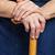 öreg · kezek · felismerhetetlen · idős · nő · nők - stock fotó © photobac