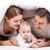 famiglia · letto · baby · mattina · donne · bacio - foto d'archivio © photobac